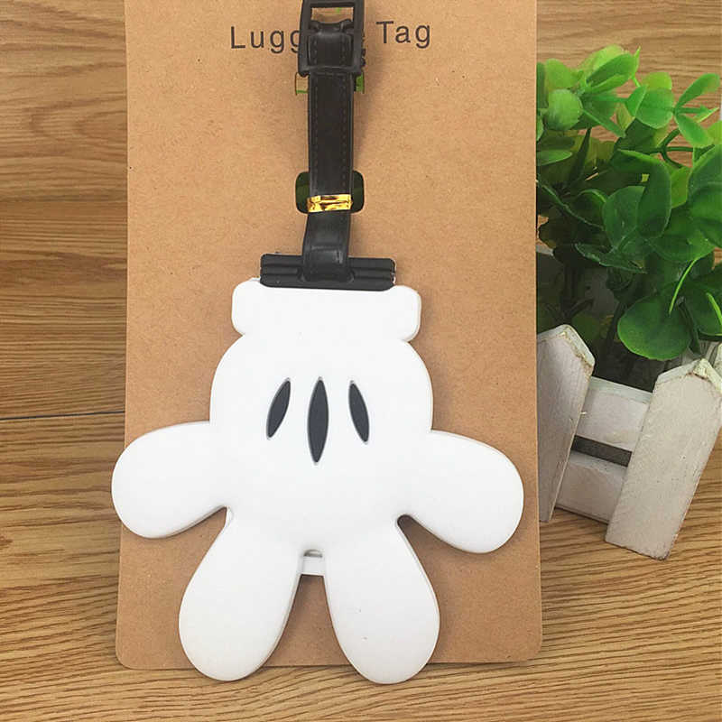 Cartoon My Neighbor Totoro Luggage Tags Suitcase Portable Silica Gel Holder ID Addres Label Baggage Boarding Travel Accessories