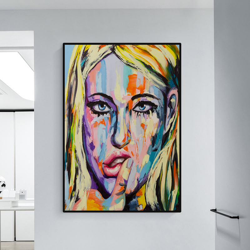 Nordic Modern Oil Painting Woman Printed On Canvas Abstract Fashion Style Art Print Poster Picture Wall Living Room Home Decor