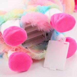 Image 5 - Jouet électrique en peluche, bébé alpagas poupée musicale, jouet amusant et amusant pour animaux de compagnie, Boppi le butin du lama Shakin, têtes secouées, danse, chant