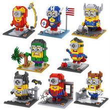 цены LegoINGlys Marvel Super Hero Avengers Captain America Batman Raytheon mini Micro diamante building block figures brick toys gift