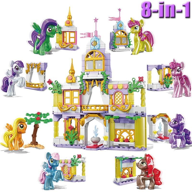 Kitoz мой маленький Единорог, радуга, Мини Принцесса, игрушка, фигура, кекс, торт, Топпер, день рождения, строительный блок, совместимый с