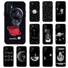 3D DIY Painted Black Case For Huawei P30 Pro P8 Lite 2017 Nova 3i 3 4 Cases Space Moon Phone Cover for Mate 10 20X