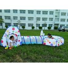Детский большой бассейн-трубка-вигвама Игровая палатка океан мяч бассейн яма палатка дом для детей Складная игра игровой дом комната подарок игрушки