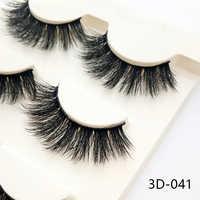 3D-028 3 Pairs Schwarz 100% Echt Nerz Natürlichen Quer Lange Dick Augen Wimpern Falsche Wimpern Make-Up Verlängerung Werkzeuge