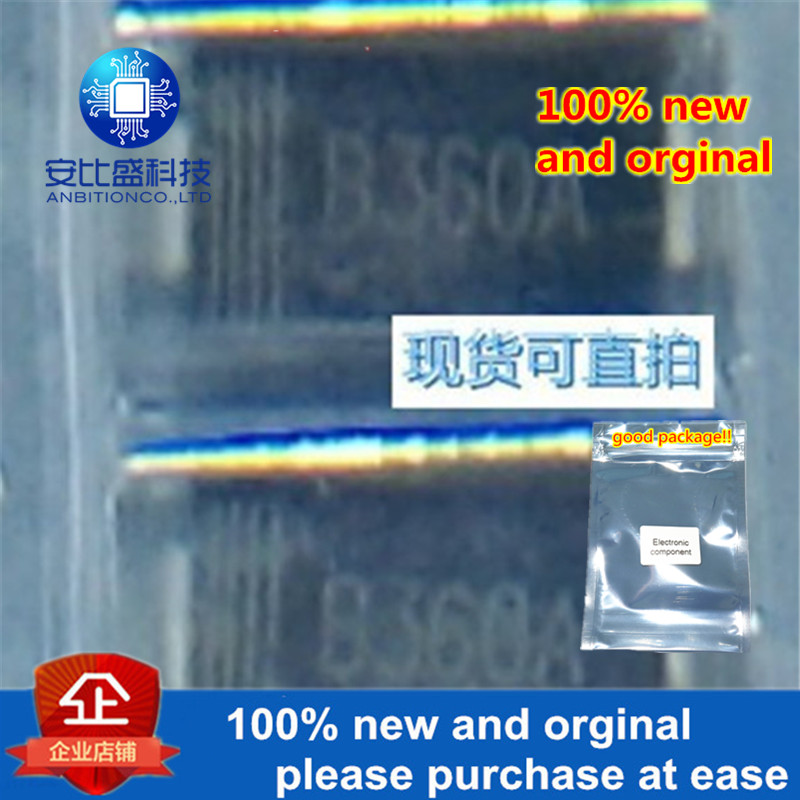50pcs 100% New And Orginal B360A 3A60V DO214AC Silk-screen B360A Schottky In Stock