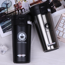 380ml Portable Travel Coffee Mug Vacuum Flask Thermo Water Bottle Car Mug Thermocup Stainless Steel Thermos Tumbler Cup