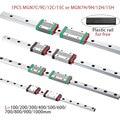 MGN7 MGN12 MGN15 MGN9 L 100 200 350 500 600 800mm miniature linear rail slide 1pcs MGN linear guide MGN carriage CNC 3D Printer