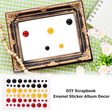 5pcs/set Candy Colors Enamel Dots Resin Stickers Self-adhesive for Scrapbooking DIY Card Making Decoration Craft New 2019