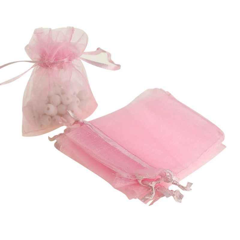 100 unids/lote pequeño dibujable Navidad Organa a Favor de 7x9cm bolsas para boda joyería bolsa de regalo embalaje Q1