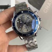 Top Quality Luxury Brand Men Watches All Subdials Working Automatic Mechanical Watch Men Full Steel Dress Man Wristwatch
