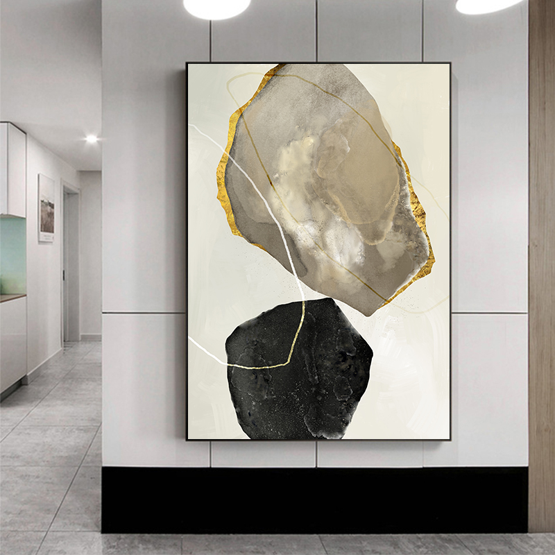 Abstract Stone Canvas Painting Chinese Zen Style Wall Art Picture Home Decorations Wall Poster Printing For Living Room Painting Calligraphy Aliexpress