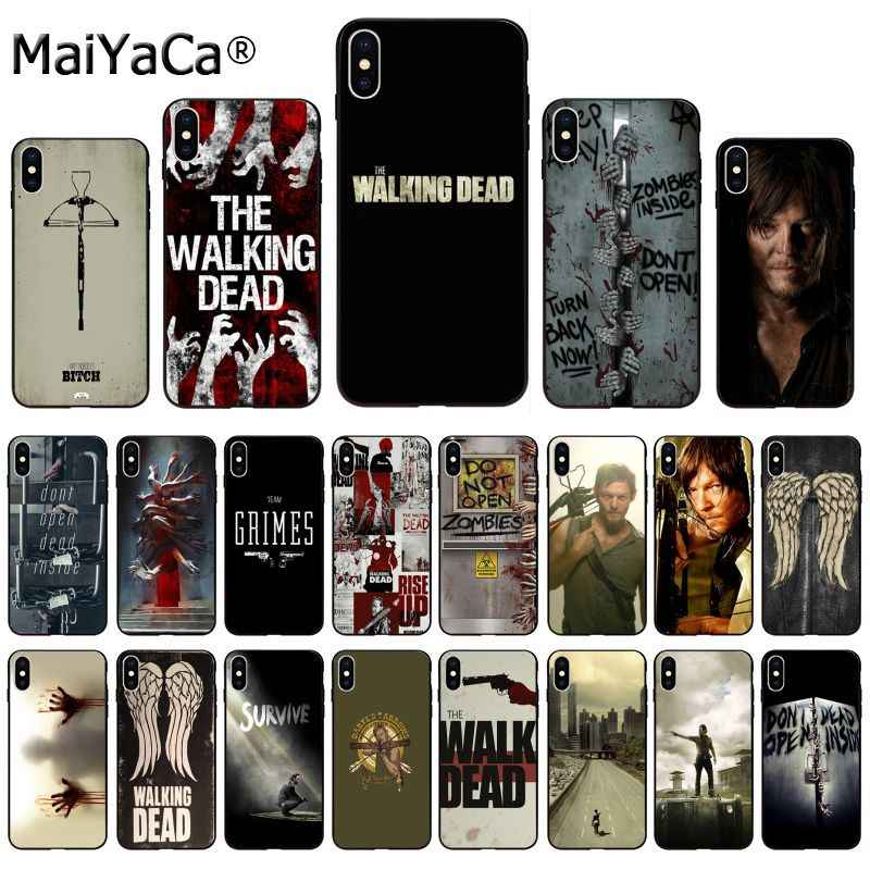MaiYaCa cassa del telefono Per iphone 11 pro X se 5s 6s 6S plus 7 più il caso di the walking dead hero per iphone 11 pro 8 8 più XR XS MAX