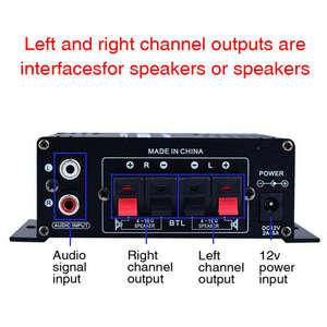 Power-Amplifier Audio Karaoke 400W Stereo Mini with Led-Lights HIFI 2--200w
