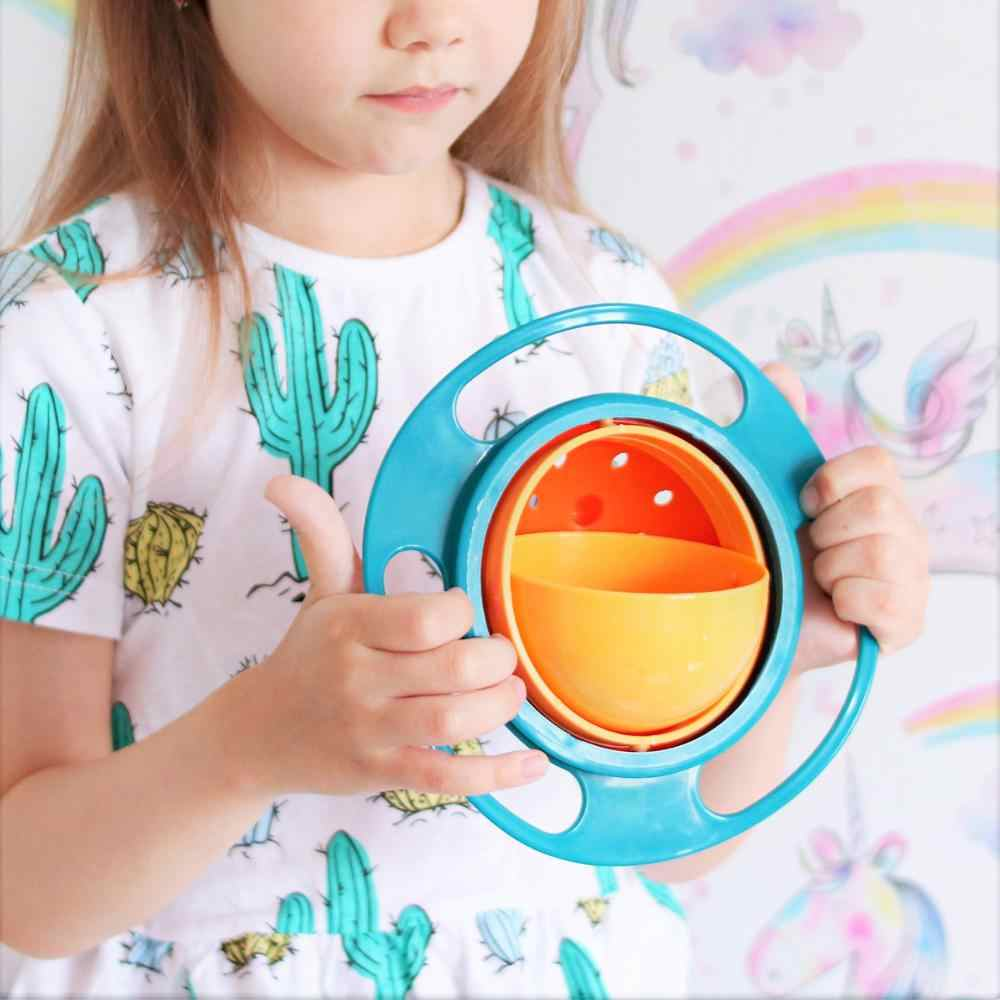 Bowl 360 Rotate Spill Proof Gyro Bowl Infants Toddler Baby Kids Training  Feeding Bowl Practice Feeding Spill no spill Dishes|Dishes| - AliExpress
