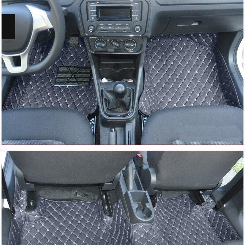 lsrtw2017 leather car floor mat for skoda rapid 2012 2013 2014 2015 2016 2017 2018 2019 2020 interior accessories stickers rug in Floor Mats from Automobiles Motorcycles