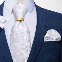 Классические мужские шелковые галстуки 8 см модные белые цветочные