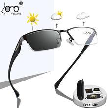 Фотохромные очки для чтения с хамелеоновыми линзами для мужчин и женщин и мужчин с защитой от синего излучения UV400 Солнцезащитные очки комп...