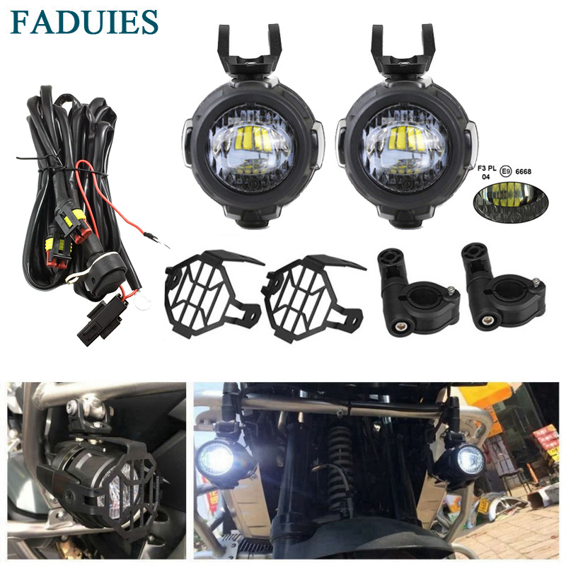 FADUIES Protect-Guards Fog-Light Motorcycle White Bmw R1200 with Wiring-Harness for Gs/adv title=