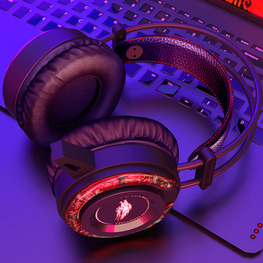 Gaming Headset Gamer 7,1 Surround Sound USB 3.5mm Verdrahtete LED Licht Spiel Kopfhörer mit Mikrofon für Tablet PC <font><b>Xbox</b></font> <font><b>One</b></font> PS4 image