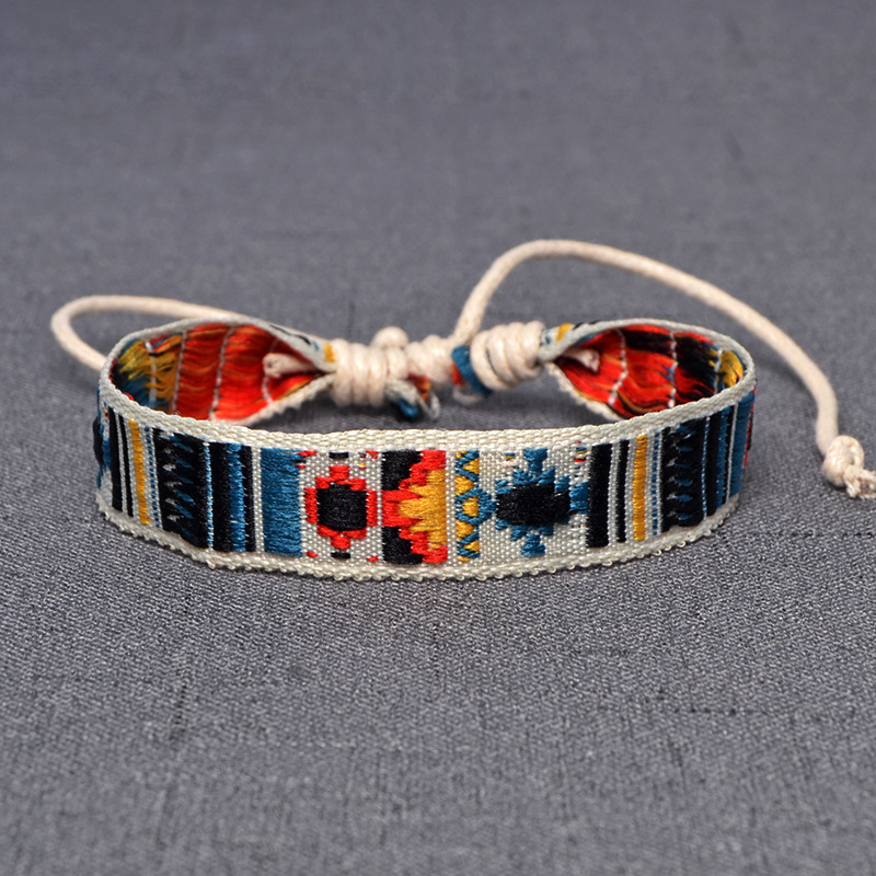 Friendship-Bracelets Bangles Jewelry Weave-Rope Ethnic Handmade Bohemia-Style Cotton title=