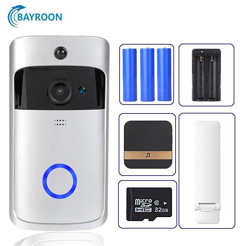 Wifi Doorbell Camera Smart WI-FI Video Intercom Door Bell Video Call For Apartments IR Alarm Wireless Color Lens Security Camera
