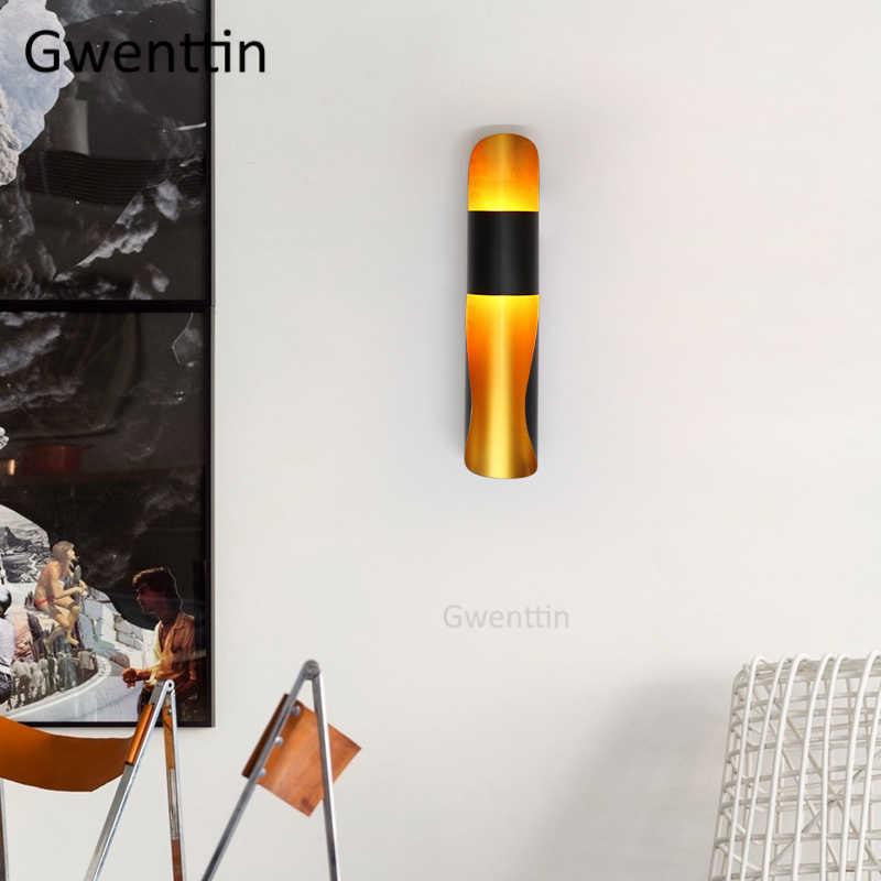 Золотая черная труба настенная лампа винтажная светодиодная настенная лампа для дома Современная арматура светильника для зеркала ванная комната бра для спальни промышленный Декор