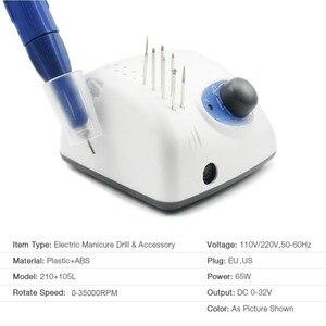 Image 3 - 65W 35000RPM elektryczna wiertła do paznokci wysokiej jakości Model rękojeść Manicure urządzenie do pedicure pilnik do paznokci Bit Nail Art Equipment