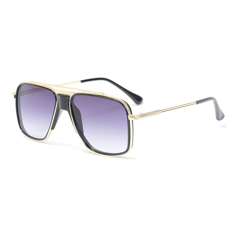 Oversized Sunglasses Men Brand Designer Retro Square Sun