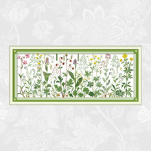 Joy Sunday Flowers On the Meadow Counted DIY Cross Stitch Fabric 11CT 14CT Wholesale Cross-Stitch Kit Embroidery Needlework