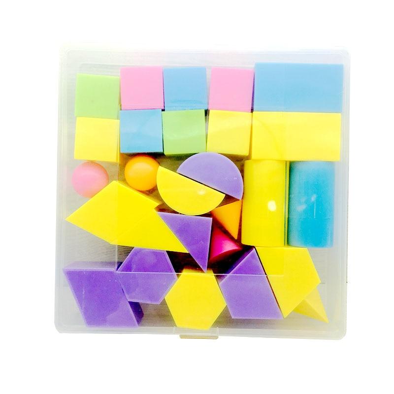Yi Cai Full Set Geometry Teaching Aids Stereo Geometry Primary School STUDENT'S Mathematics Stereo Graphics Model Set