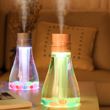 500ML Air Ultrasonic Humidifier USB Electric Aroma Diffuser Mist Maker Fogger with Colorful LED Night Light Home Mini Humidifier fimei usb aroma diffuser led night light humidifier vehicle aromatherapy mist maker creative bottle shape air humidifier home