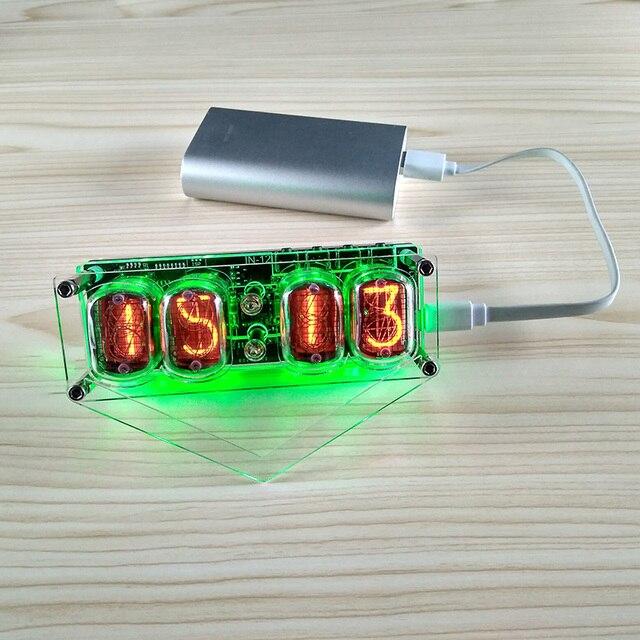 Elektroniczny DIY w 12 lampy jarzeniowej 4 cyfrowy zegar kolorowe podświetlenie led DS3231 zegar nixie IN 12B DC5V USB