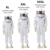 Beekeeping Protective Clothing Full Body Suit Hat Smock Pro Bee Suit Equipment Veil Hat Bee Keeping Protective Clothing