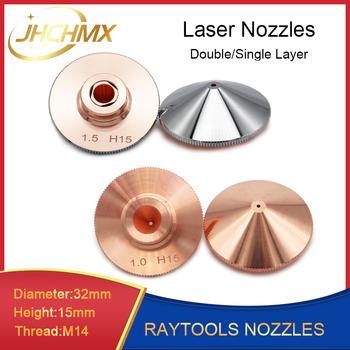 JHCHMX Raytools dysza pojedyncza podwójna warstwa Dia 32mm kaliber 0 8-4 0mm dla wzmocnienia włókna głowica laserowa Bodor Glorystar maszyna laserowa tanie i dobre opinie Raytools Fiber Laser Cutting Head Bodor Fiber Laser Machine Raytools Nozzles D32 H15 15mm High Quality Copper