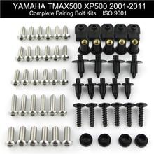 Kit complet de boulons de carénage, Clips en acier inoxydable pour Yamaha Tmax 500 XP500 2001 2011 2002 2003 2004 2005 2006 2007