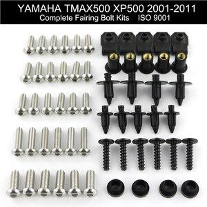 Image 1 - สำหรับ Yamaha Tmax 500 XP500 2001 2011 2002 2003 2004 2005 2006 2007 2008 เต็มรูปแบบ Fairing Bolts Kit คลิปอ่อนนุชสแตนเลส