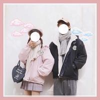 Japanese Autumn Winter Cartoon Patch Embroidery Coat Teen Girls Student Soft Sister Loose Both Side Wear Jacket Preppy Style
