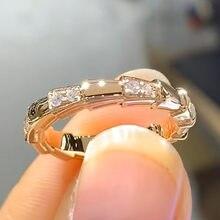 18K biżuteria z różowego złota naturalne 1.5 Carat diamentowy pierścionek dla kobiet klasyczna biżuteria obrączka Anillos Plata 925 Para Mujer pierścionki