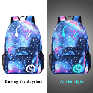 Image 4 - Fashion Luminous Backpack For Men Women Oxford Anti thief School Bags For Girl Boy Student Cute USB Charge Laptop Knapsack
