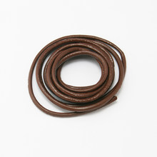 Factory Price 2MM Genuine Leather Cord 1m/lot Brown Wire/Thread/Strin Jewelry Findings Cord for DIY Choker Necklace Bracelet(China)