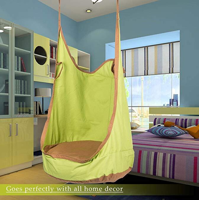Outdoor Casual Adult Kids Pod Swing Seat Hammock Chair Kids Pod Swing Seat Child Hammock Chair Children Comfortable Indoor Roof