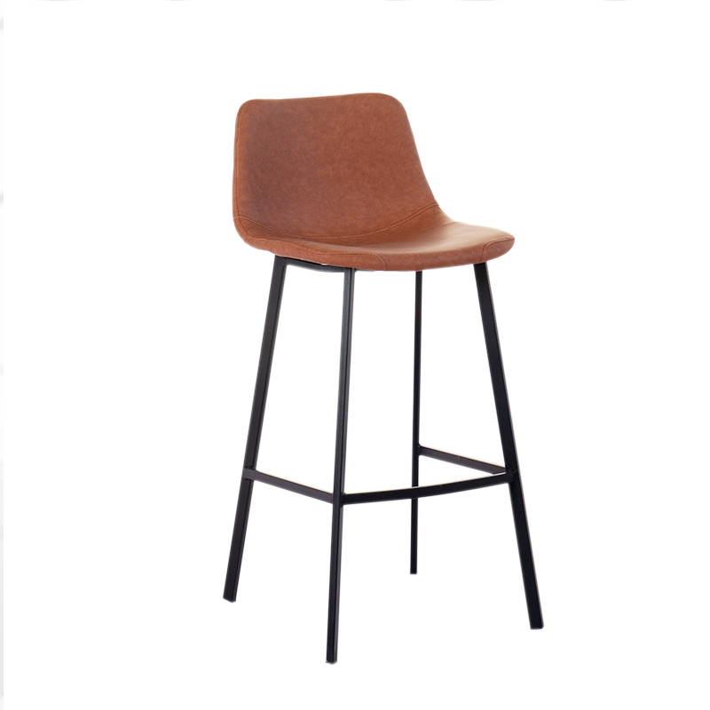 Nordic light luxury wrought iron home simple bar stool high stool bar chair leisure cafe backrest dining chair