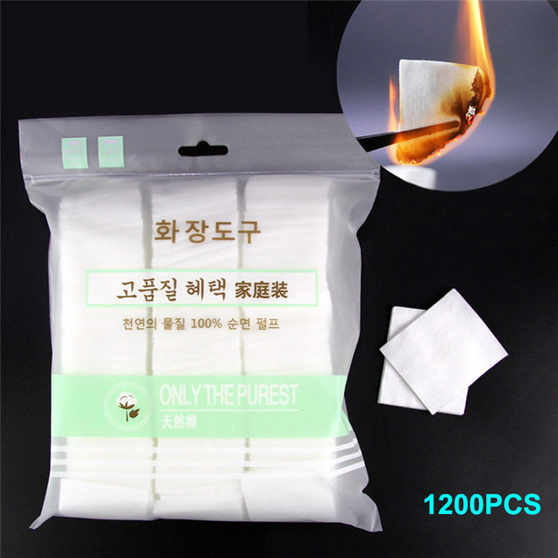 1200Pcs Nail Polish Remover Cotton Wipes UV Gel Tips Remover Cleaner Paper Pad Nails Polish Art Cleaning Manicure Tools