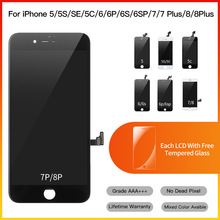 10 Stuk Grade Aaa + Vervanging Touch Screen Digitizer Vergadering Lcd Voor Iphone 5 5S 6 6S 7 8 Plus Display