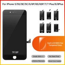 10 stück Grade AAA + Ersatz Touchscreen Digitizer Montage LCD Für iPhone 5 5S 6 6S 7 8 Plus Display