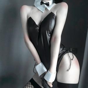 Image 3 - Ensemble lapin pour femme, Sexy, mignon, fausse cuir, lapin, bonne qualité, peut porter dans un spectacle comique, Kawaii Cosplay