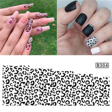 1pcs Black Leopard Nail Art Water Transfer Sticker Decals Full Wraps Slider Decal Manicure 3D Nail Art Tips Decoration Accessory(China)