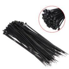 100 шт черный самоблокирующийся кабель галстук высокого качества