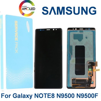 Original SUPER AMOLED Display For SAMSUNG Galaxy NOTE8 LCD N950 N950F Display Touch Screen Replacement Parts With black spots with line original amoled display for samsung galaxy note9 lcd n960 n960f display touch screen replacement parts screen