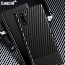 купить NEW Carbon Fiber Case on For Samsung Galaxy Note 10 Note 10 Pro Case Luxury Bumper Phone Case Cover For Samsung Note 10 Coque по цене 150.48 рублей